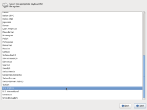 Step 3 - Choosing Keyboard Layout