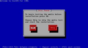 Test Installation Media Screen